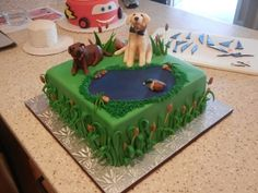 Duck Hunting Cake for Groom By CrissyB on CakeCentral.com