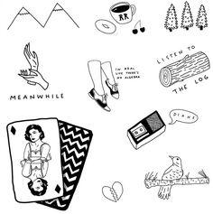 Twin peaks doodles