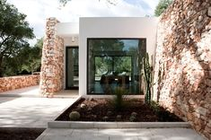 Casa nel bosco di ulivi by Luca Zanaroli  #olive #trees #leuca #italy #stone #house