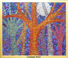 'magic night' mosaic ~ Leena Nio