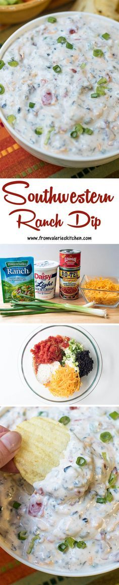 Southwestern Ranch Dip - Try with subbing in greek yogurt dip and greek yogurt Sponsored by Hidden Valley Cooked Vegetable Recipes, Vegetable Korma Recipe, Spiral Vegetable Recipes, Vegetable Samosa, Vegetable Casserole, Vegetable Dishes, Ranch Dip, Hummus, Food Dishes