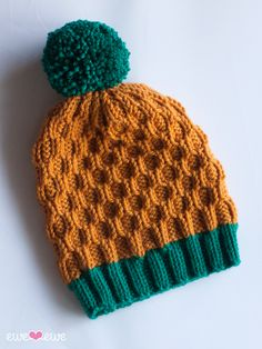 Pineapple Expressions Hat Knitting Pattern