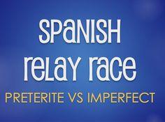 Spanish Preterite Vs Imperfect Relay Race by The Profe Store LLC | Teachers Pay Teachers