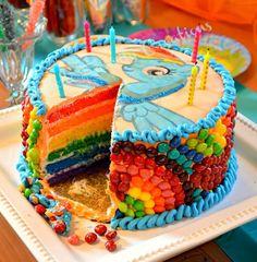 Rainbow dash cake - ben's birthday cake?