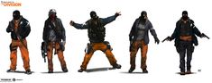 The Division: Enemy Factions Lineups concepts, Miguel Iglesias on ArtStation at https://www.artstation.com/artwork/4yAlq