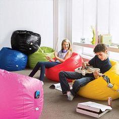 Large Vinyl Beanbag Chair