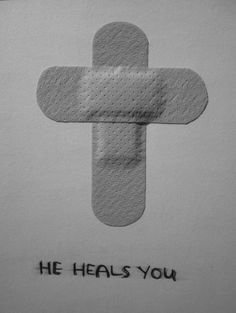 He heals you-- okay, SO cute for all those little scrapes when the kids want a band aid (but don't really need one...). I may be more inclined to show sympathy if it is SUCH a teachable moment!