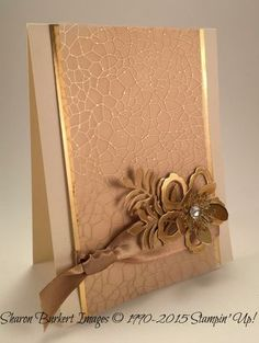 handmade card .. Botanical Builders ... gold and vanilla ... gorgeous ... Stampin' Up!