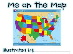 Me on the Map book for children to make