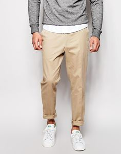 $40, Beige Chinos: Asos Brand Slim Fit Smart Chino Pants. Sold by Asos. Click for more info: https://lookastic.com/men/shop_items/254230/redirect