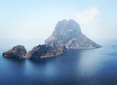 The magical island Es Vedra in front of Ibiza coast...