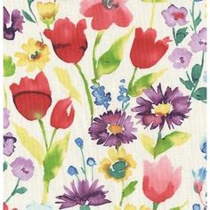 "Dear Stella Spring Street Watercolor Floral Multi. Premium 44"" cotton fabric."