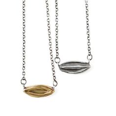 Necklace with Pendant in Brass or Sterling Silver on Chain - Floret - Joanna Morgan Designs