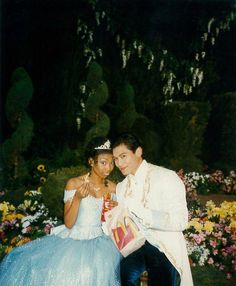 """""""omg look at this picture of brandy (cinderella) and paolo (prince christopher) eating mcdonalds on set in costume. my new favorite picture"""" Black Girl Aesthetic, Couple Aesthetic, Cute Relationship Goals, Cute Relationships, Cute Couples Goals, Couple Goals, Rodgers And Hammerstein's Cinderella, Brandy Norwood, Biracial Couples"""