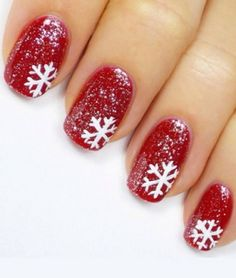 Top Red & White Christmas Nail 2017 - Reny styles