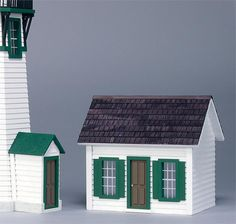 The Finished Keeper's House is the perfect complement to our New England Lighthouse. Quaint and well-crafted, the kit includes silkscreened windows, staircase and all the charm of New England. Add the