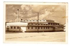 TX - MINERAL WELLS TEXAS RPPC Postcard CAMP WOLTERS SERVICE CLUB WWII ERA