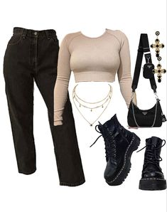 Style Outfits, Cute Swag Outfits, Edgy Outfits, Mode Outfits, Retro Outfits, Outfits For Teens, Girl Outfits, Polyvore Outfits Casual, Mode Dope