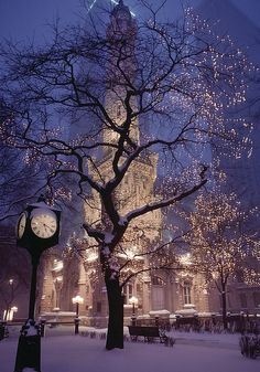 Chicago Water Tower in winter