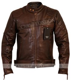 Injecting the spirit of adventure into every piece,Charlie LONDONintroduces the Stannard Leather Jacket in vintage brown. For all the biker fanatics the Stannard beauty is a must. Combining durability with practicality, style and comfort the flawless