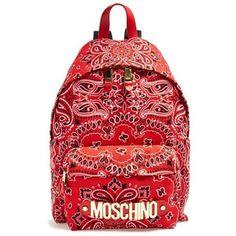 Women's Moschino Bandana Print Canvas Backpack