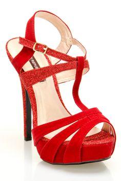 Norina Strappy T-Strap Heels $30