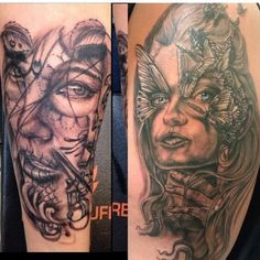 My tattoos so far on my arm. All done at Bent-n-Twiztid in Willington CT