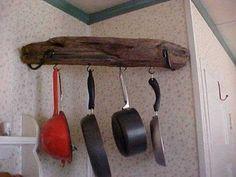 Corner Hanging Pot Rack (inspiration)