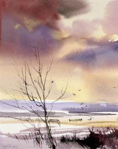 Joe Cibere Great mood with the sky colours. Nice composition with the sky colours reflected in the  snow.