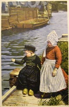 Vintage Postcard - Dutch Children #NoordHolland #Volendam