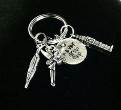 Peter Pan Inspired Never Grow Up Keychain by byAmandaJane on Etsy