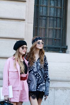 Chiara & Valentina Ferragni by Claire Guillon - CGstreetstyle