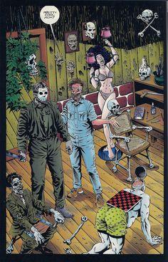 Jason visits Leatherfaces