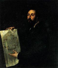 Portrait of Giulio Romano -  Artist: Titian Completion Date: c.1536 Style: High Renaissance Genre: portrait Technique: oil Material: canvas Dimensions: 101 x 86 cm