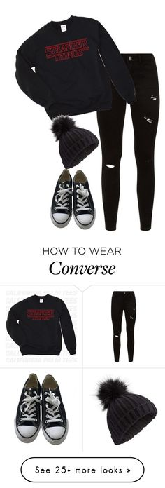 """""""Day 8 of Christmas (2017)"""" by demiwitch-of-mischief on Polyvore featuring Converse and Miss Selfridge"""