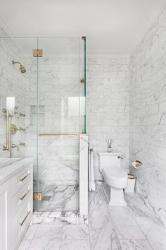 Splendid Carrara White Marble Tile with Mirror Medicine Cabinet Brown Floor