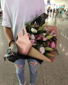 핑크백합꽃다발