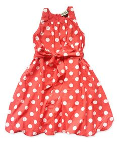 Look what I found on #zulily! Red Clifford Bubble Dress - Toddler & Girls #zulilyfinds