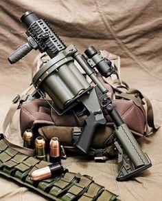 Milkor SuperSix MGL 40mm Multi-Shot Grenade Launcher
