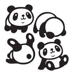 Panda Drawing, Shrink Art, Cute Animal Videos, Kids Room Art, Silhouette Portrait, Cute Panda, Hand Art, Silhouette Cameo Projects, Stencils