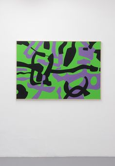Carla Accardi Melodie Fluviali, 2012, vinyl on canvas, 110x160 cm, (archivio 342 c) #ThenNow #miart2014 #amemiart
