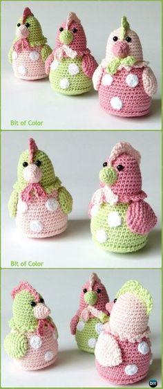 Crochet Kipje Chicken Kitty Amigurumi Free Pattern -Crochet Easter Chicken Free Patterns