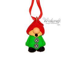 elf ornament  gnome ornament  Christmas tree by Wishcraft2013