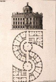 The S Building from Johann David Steingruber's Architectural Alphabet, 1773