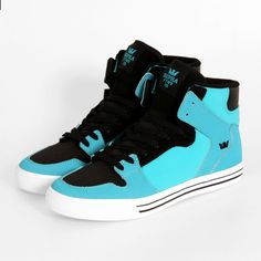 Supra Shoes - Vaider (Blue Black White) / shoes / high tops / women's shoes