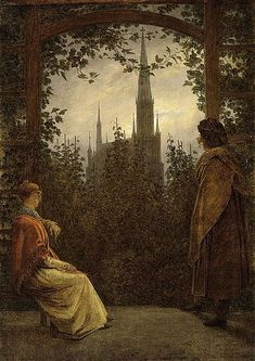 カスパー・ダーヴィト・フリードリッヒ『グライフスヴァルトの四阿にて』1818