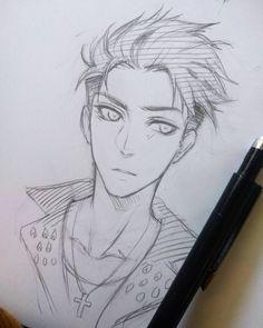 Tried to draw #otabekaltin :'D bishonen Filter on fleek  #yurionice #drawing #otabek #sketch