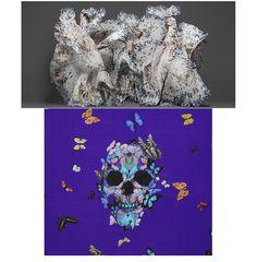 Damien Hirst pour Alexander McQueen http://www.vogue.fr/mode/inspirations/diaporama/art-mode-rencontres-au-sommet/16100/image/878365