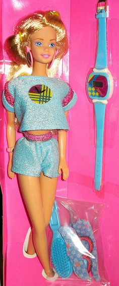 Funtimes Barbie; Can't believe I forgot about this one. I loved it and wore the watch all the time!