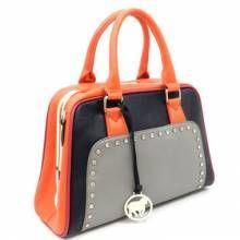 Celebrity Tri Color satchel  http://fashionablehandbags.net/tricolor-trendy-satchel-purse-handbag